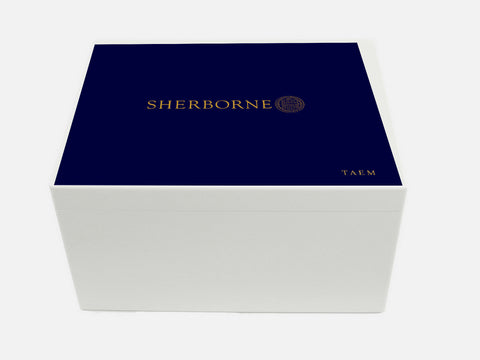 Sherborne Boys School Memory Wood Box - A4 Chest - Personalised