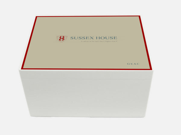 Sussex House School Memory Wood Box - A4 Chest - Personalised