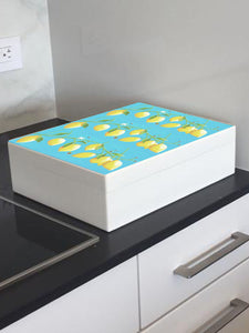 Lemons wooden box file for A4-sized papers, magazines, recipes, post 335 x 260 x 100 mm
