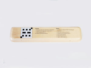 Luxury Personalised Maple Pen Case with your own Crossword Puzzle (£10 + VAT)
