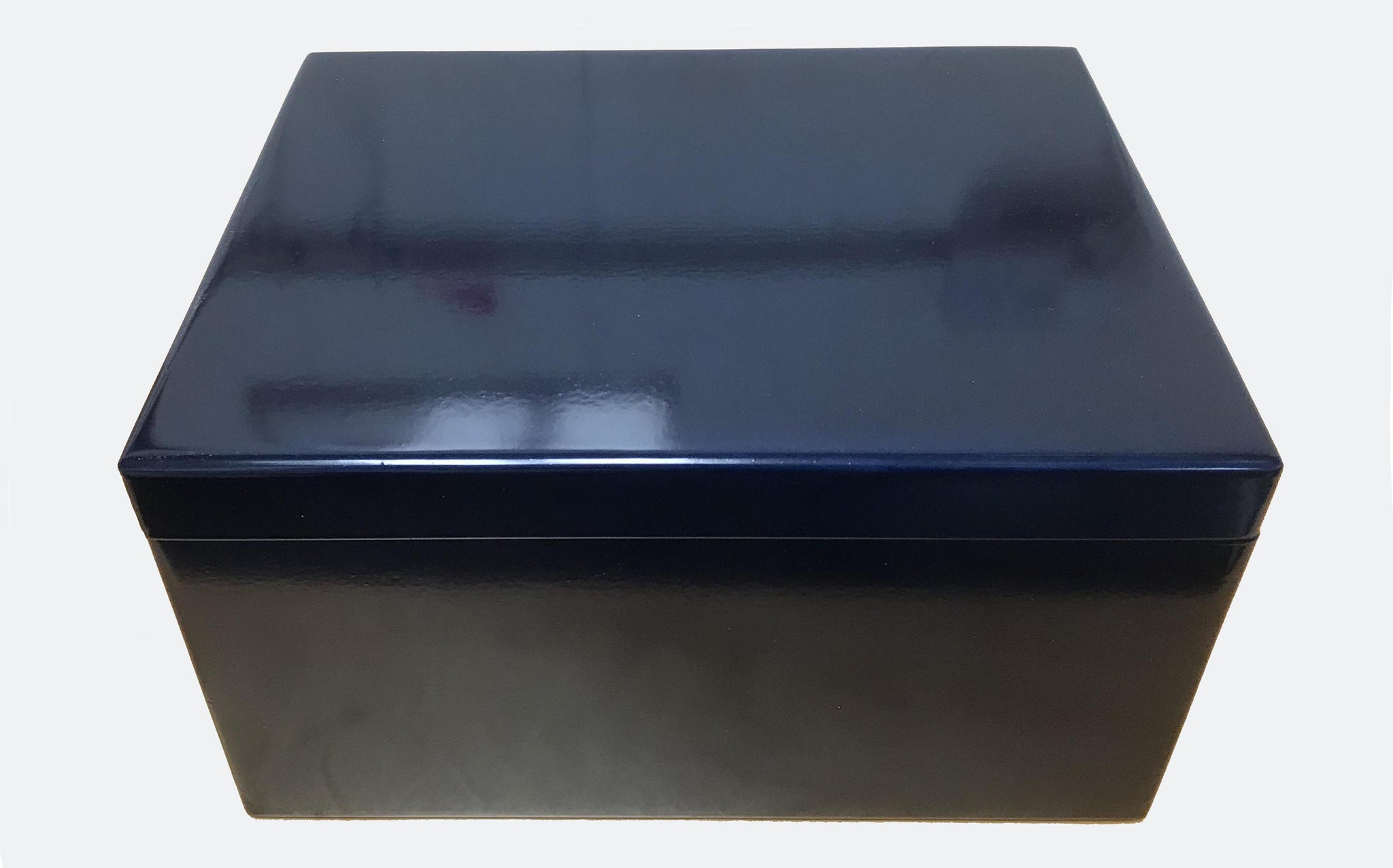Extra large wooden box file blue