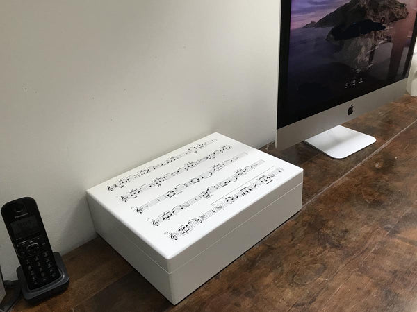 Luxury box file with music notes