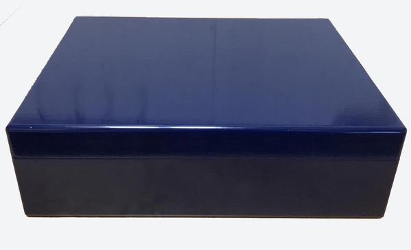 Luxury wooden box file in royal blue