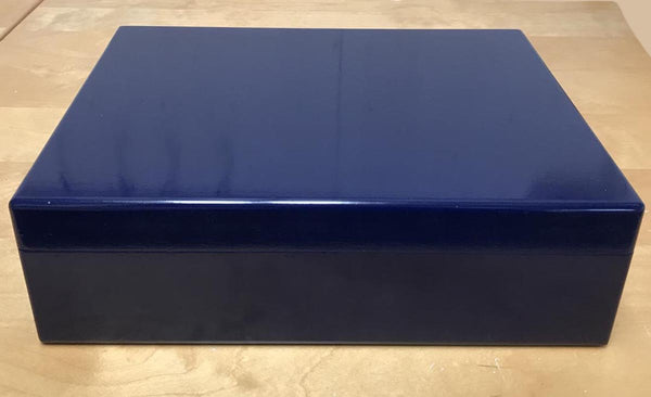 Luxury royal blue wooden file box