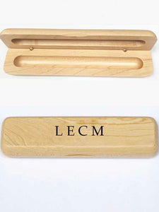 Maple Luxury Personalised Wooden Pen Case with your Initials