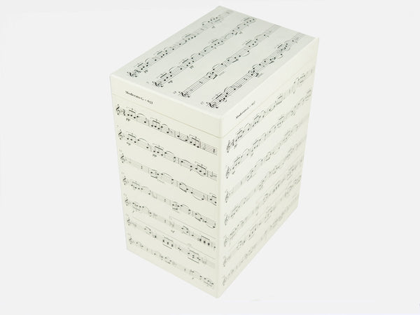 Personalised  School Music Notes Tall  File Box for ABRSM books, magazines