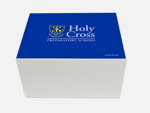 Holy Cross Prep School Memory Wood Box - A4 Chest - Personalised