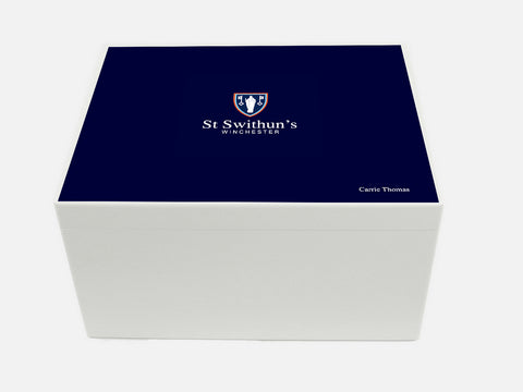 St Swithuns School Memory Wood Box - A4 Chest - Personalised