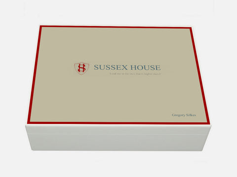 Sussex House School Memory Wood Box - A4 box - Personalised