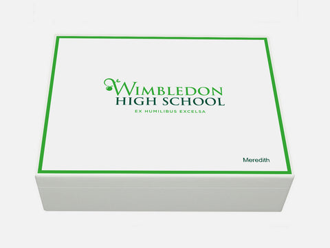 Wimbledon High School Memory Wood Box - A4 box - Personalised