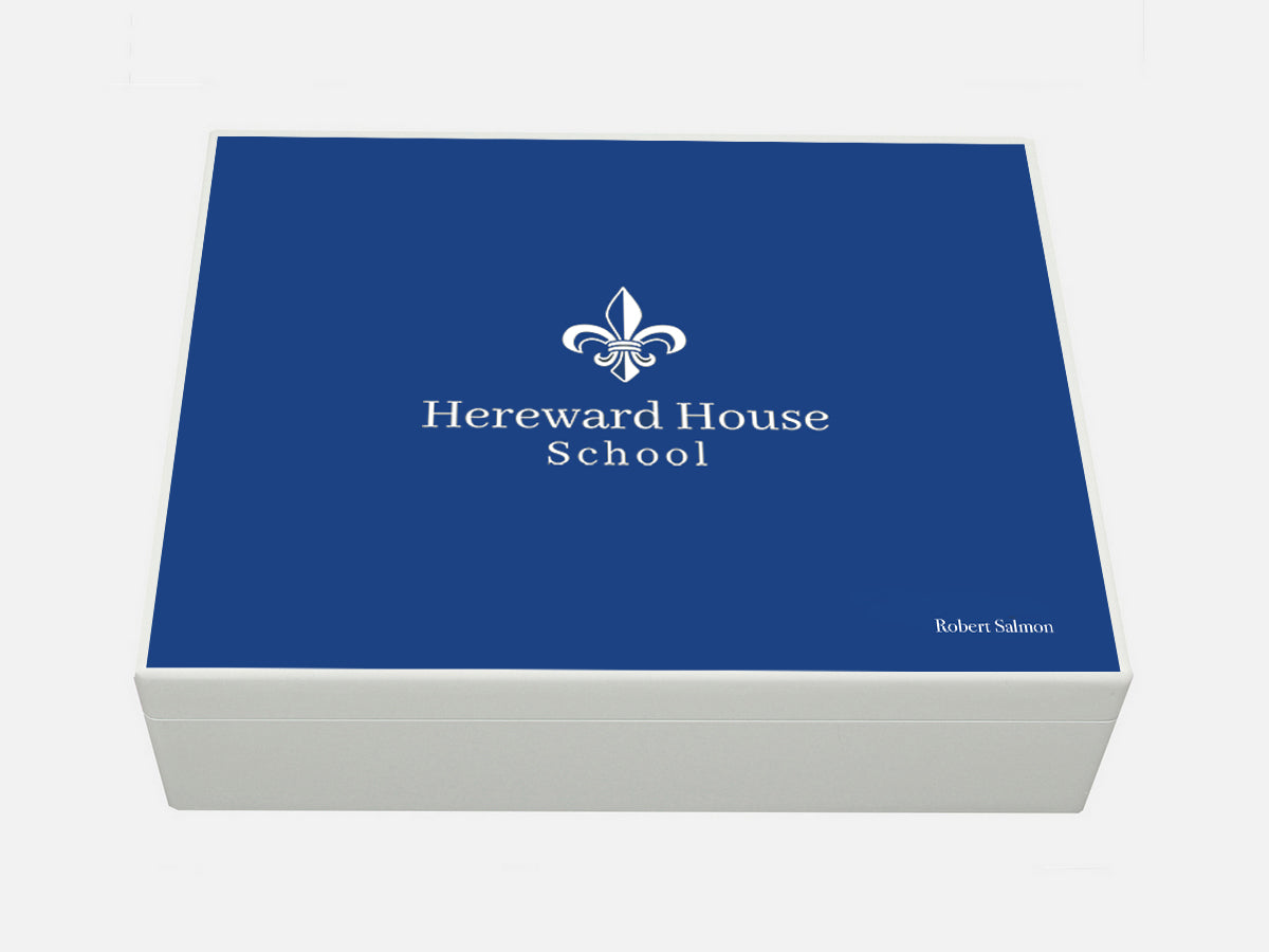 Hereward House School Memory Wood Box - A4 box - Personalised