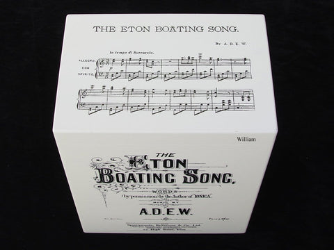 Eton College School Memory Wood Box - Eton Boat Song - A4 Tall - Personalised