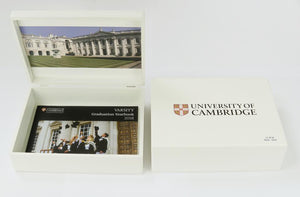 Personalised University of Cambridge white memory box