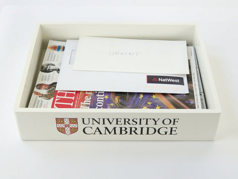 University of Cambridge White  In Tray