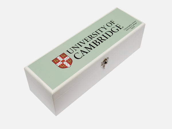 Personalised University of Cambridge blue wine box