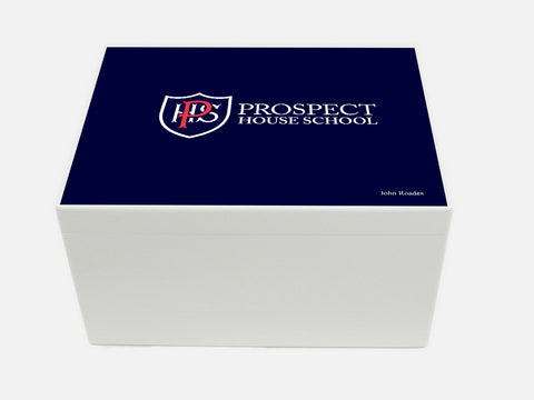 Prospect House School Memory Wood Box - A4 Chest box - Personalised