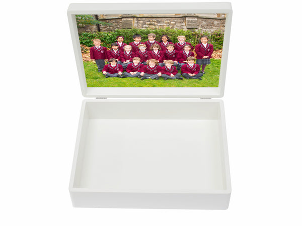 Redcliffe School Memory Wood Box - A4 Box - Personalised