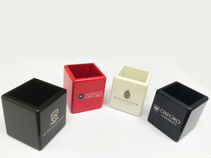 25 x Luxury Personalised Pen Pot| White, Black, Blue or Red (from £10 per pot + VAT)