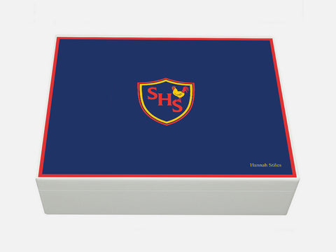 Sinclair House School Memory Wood Box - A4 box - Personalised