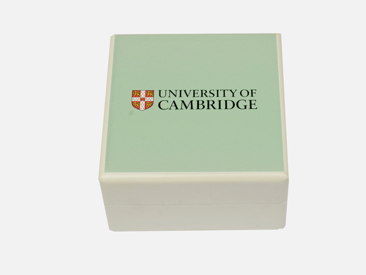 Cambridge Blue Square Wood Jewellery box - personalised