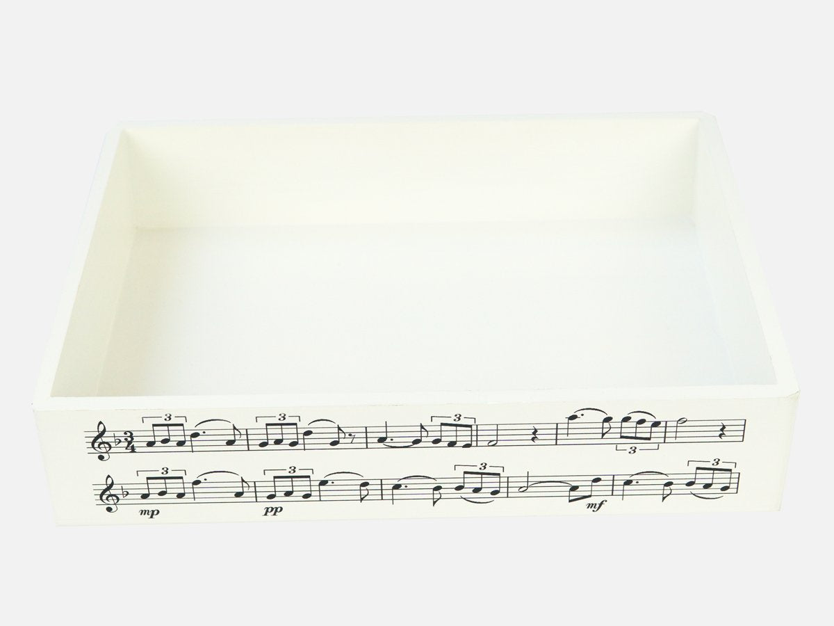 School Wooden Tray with Music Notes