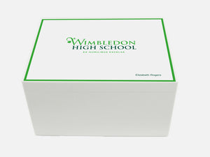Wimbledon High School Memory Wood Box - A4 Chest - Personalised