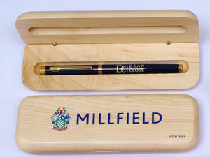 Luxury Wide Personalised Maple Pen Case