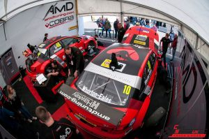 AmDTuning with Cobra Exhaust Pit Garage - Thruxton BTCC 2017
