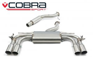 "Audi S3 8V 3"" Valved Sports Exhaust by Cobra Exhausts"