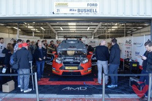 Mike Bushell in Silverstone BTCC Pits