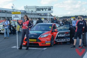 Mike Bushell on Grid at Silverstone with Cobra Sport