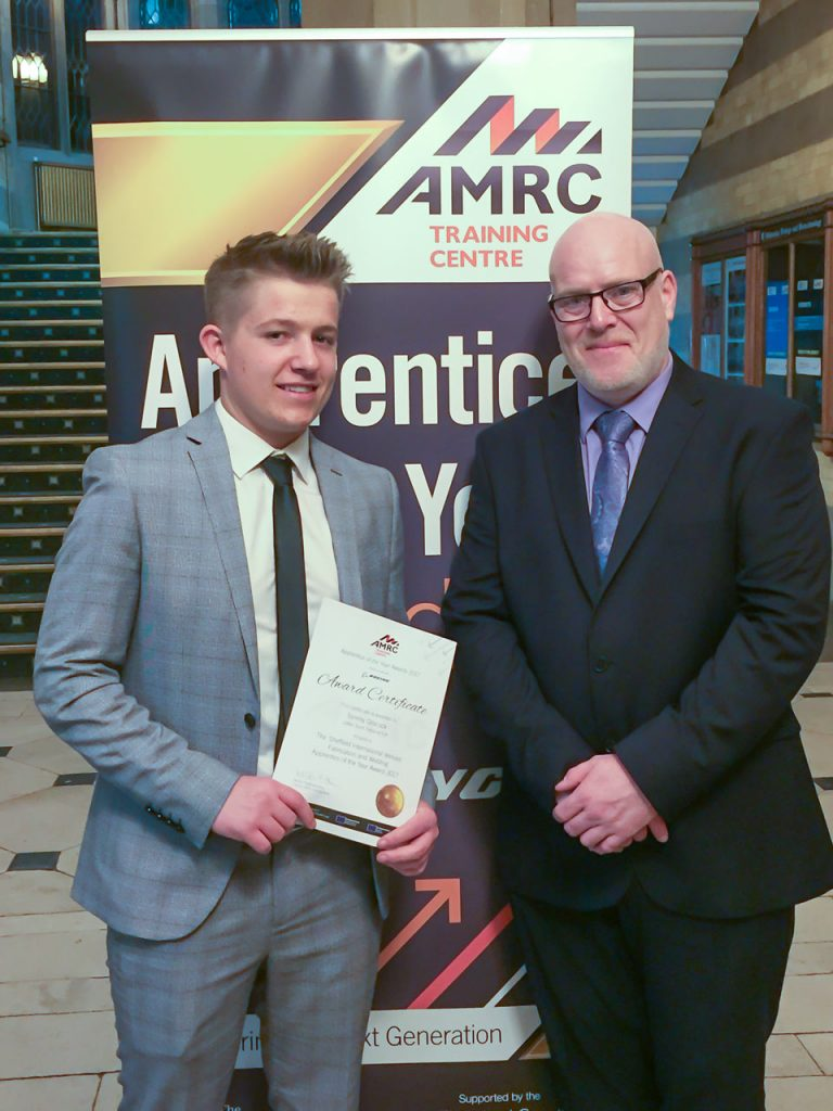 Tommy Grocock & Steve Firth at the AMRC Awards Evening