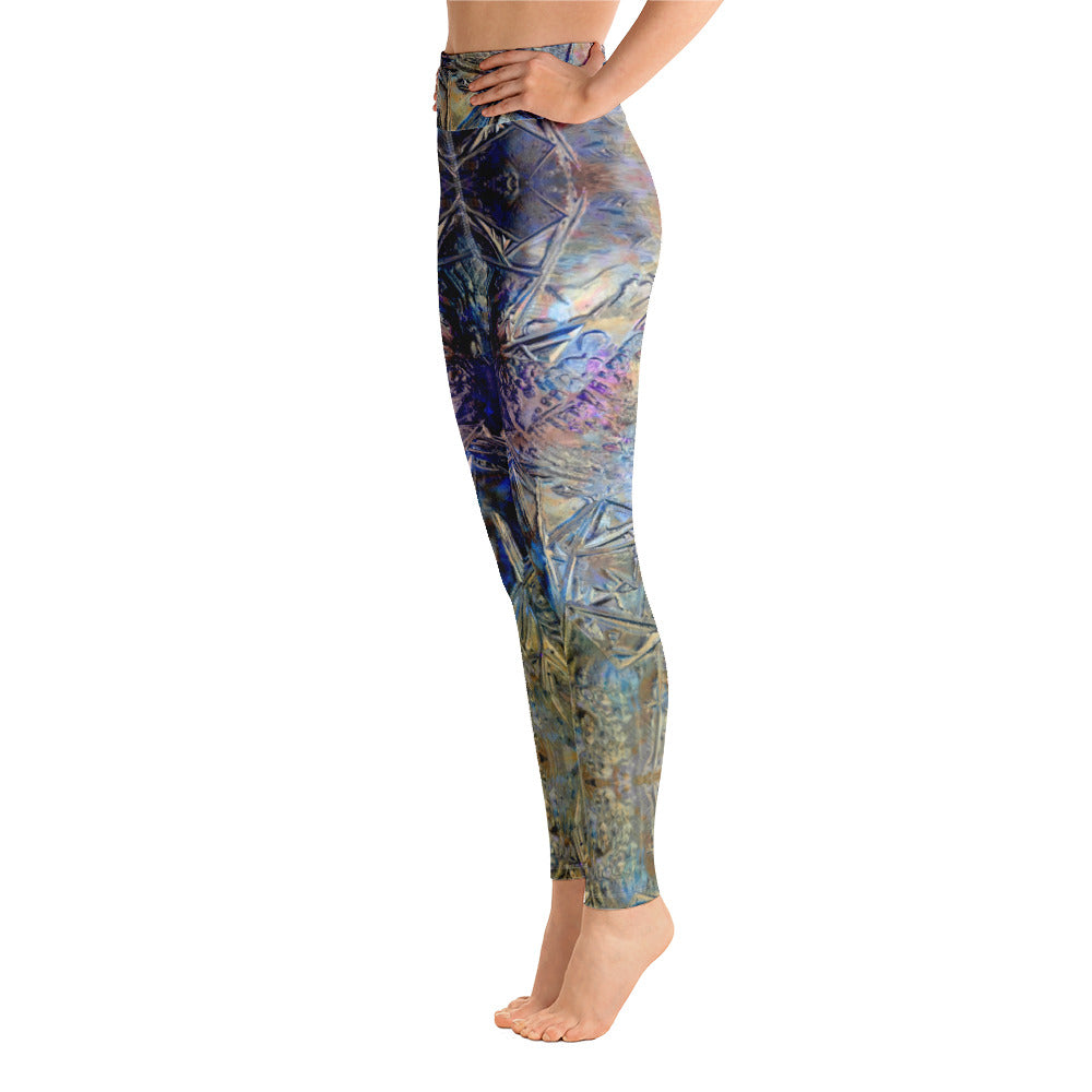Yoga Leggings Galactic Winter Ice Series 14
