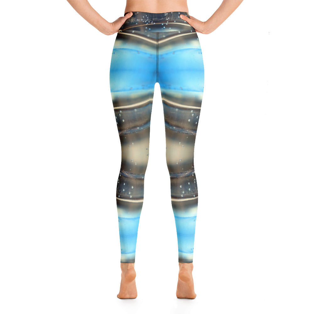 Yoga Leggings Blue Water Series 1