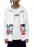 Konus Men's Zip up Hoodie With Contrast Pocket  in White - Shop at Konus