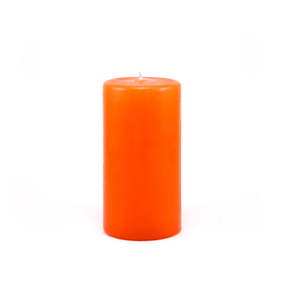 Powderpressed candle ⌀ 7x14 cm, orange