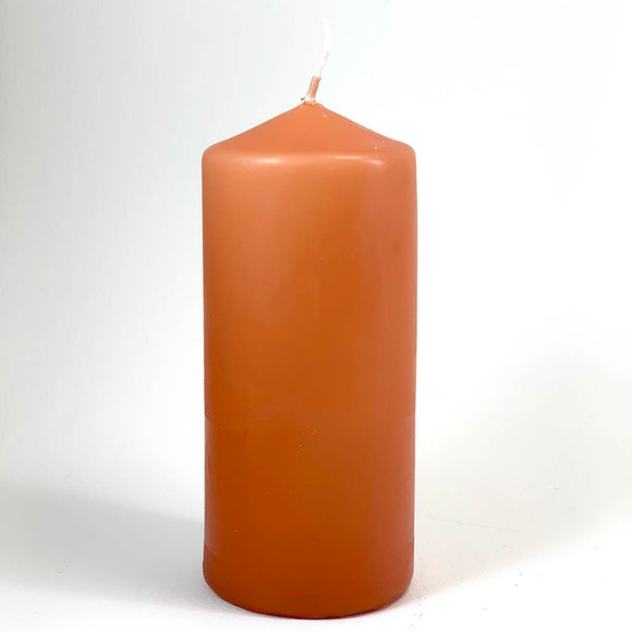 Powderpressed candle ⌀ 6x13 cm, orange