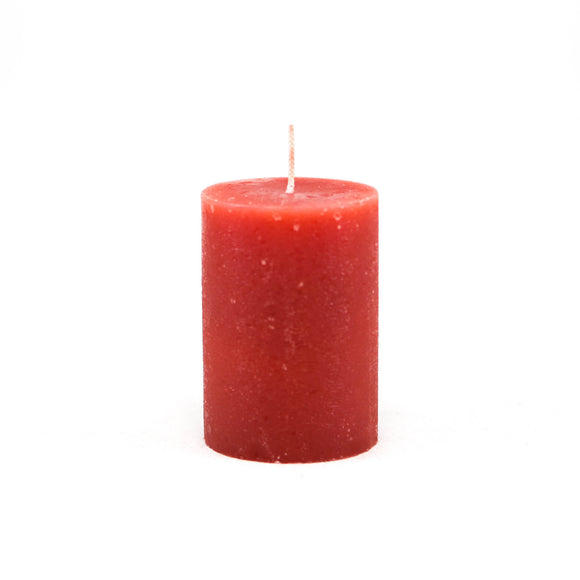 Candle cylinder ⌀ 7x10 cm, red