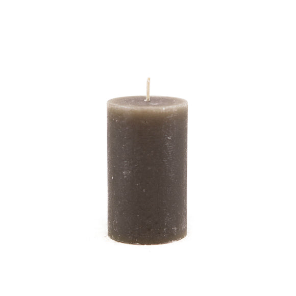 Candle cylinder ⌀ 6x10 cm, gray-brown