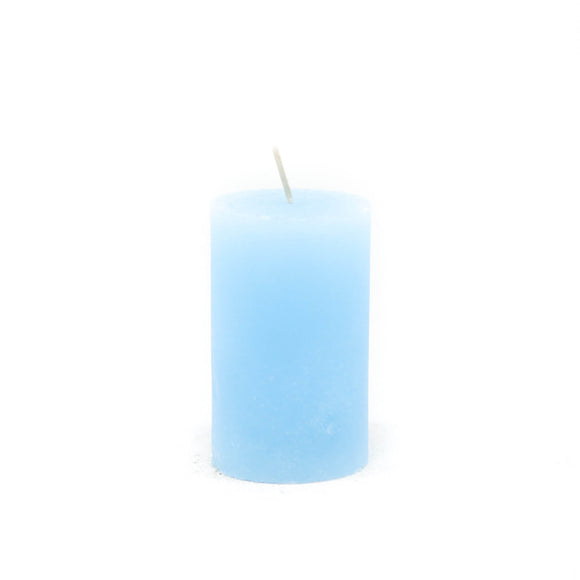 Candle cylinder ⌀ 6x10 cm, light blue