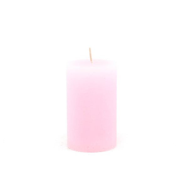Candle cylinder ⌀ 6x10 cm, light pink