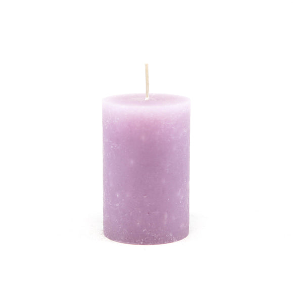 Candle cylinder ⌀ 7x10 cm, light purple pastel