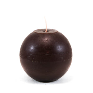 Candle ball ⌀ 10 cm, dark brown