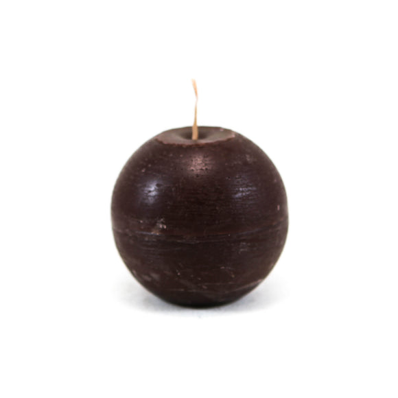 Candle ball ⌀ 8 cm, dark brown