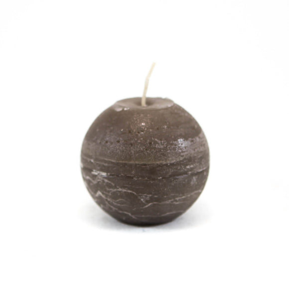 Candle ball ⌀ 8 cm, gray-brown
