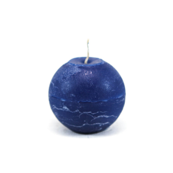 Candle ball ⌀ 8 cm, dark blue