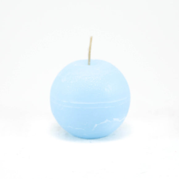 Candle ball ⌀ 8 cm, light blue