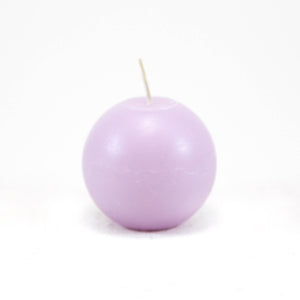 Candle ball ⌀ 8 cm, light purple