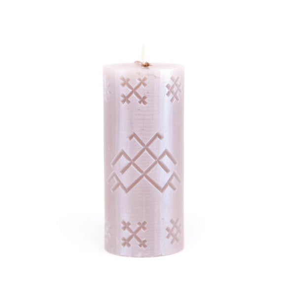 Candle with Latvian sign