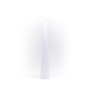 Candle pyramid, ⌀ 3.5x20 cm, white